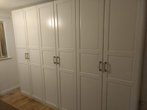 pax wardrobes opening doors building